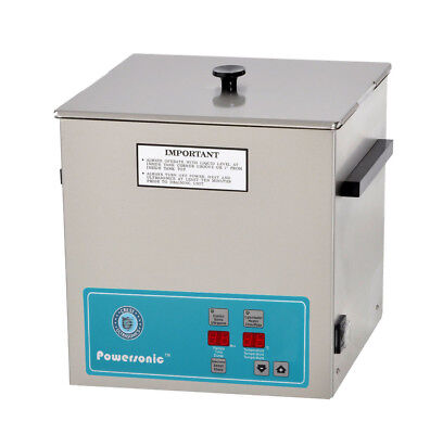 New Crest Powersonic P1100h-45 3.25 Gal Heated Ultrasonic Cleaner 1100ph045-1