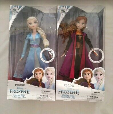 Frozen 2 Elsa and Anna singing dolls - The Disney Store 2 Dolls