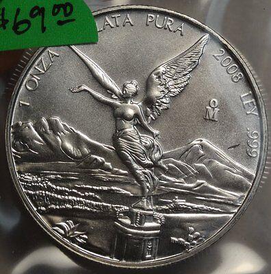 2008 Silver Onza/Libertad, 1 Oz. 999 Silver, Gem Uncirculated  1002-11