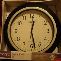 Better homes & gardens La Crosse Technology W85961 11.5 inch Atomic Wall Clock