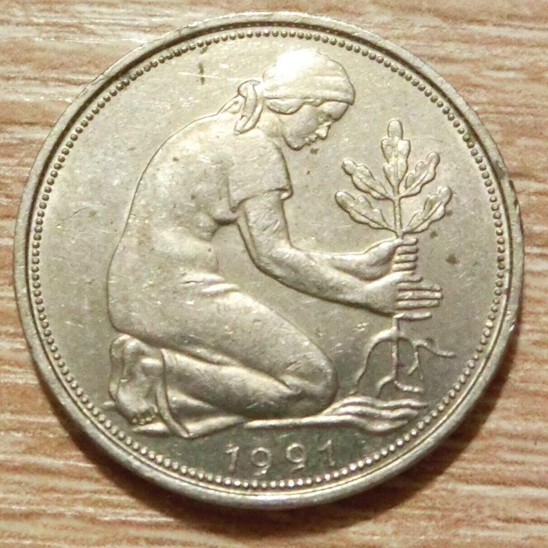 Bundesrepublik Deutschland 50 Pfennig 1991 D - 1,00 €