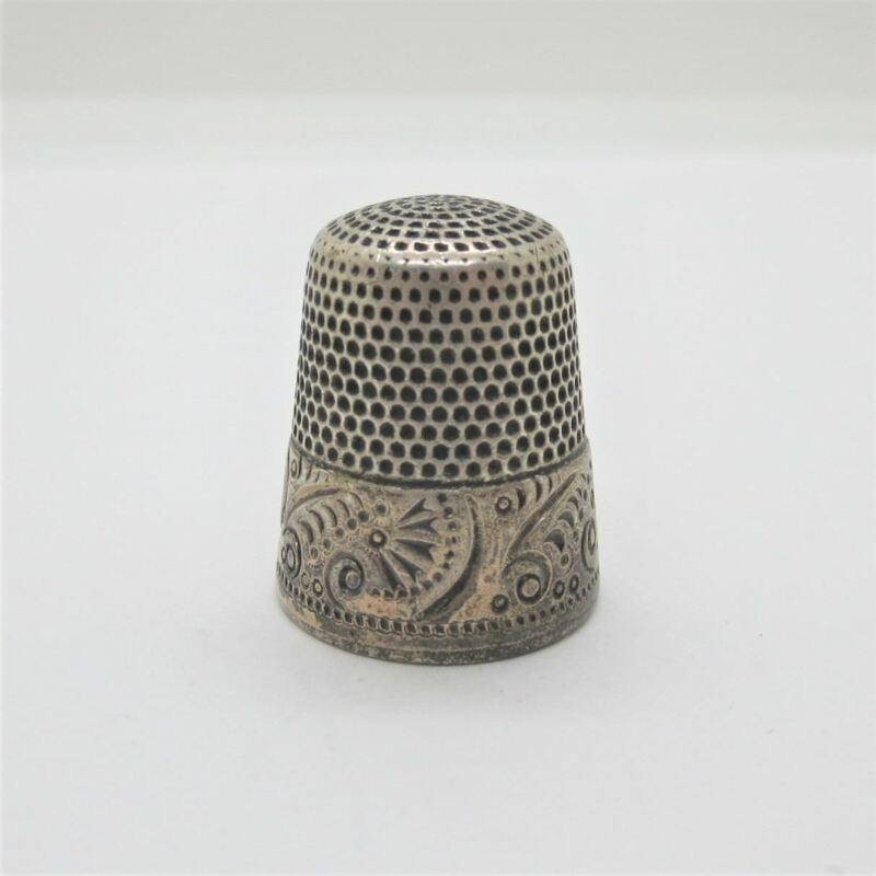 Antique Sterling Silver Ketcham & McDougall Thimble Size 11 No Monogram