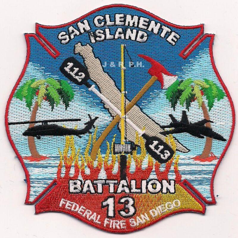 """Federal - San Clemente Isl. Batt.-13 / 112 - 113,  (4.5"""" x 4.5"""" size) fire patch"""