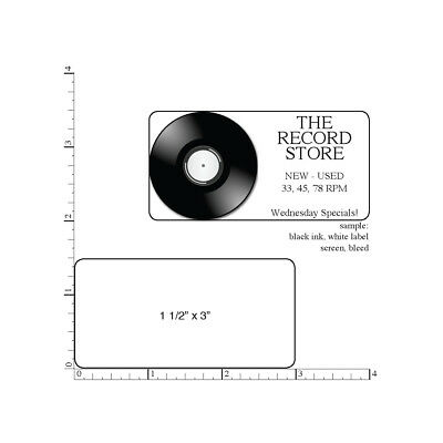 500 Printed Labels Rectangle 1-12 X 3 Custom Business Stickers 1-color Ink