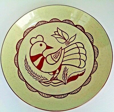 Vintage Handmade Signed Dated Shoo Fly Pie Plate Bird in Hand PA Gift