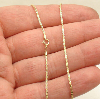"""10"""" Twisted Rock Sparkle Chain Ankle Bracelet Anklet Real Solid 10K Yellow Gold"""