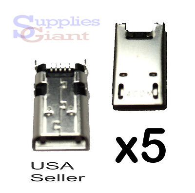 Lot Of 5 Asus Transformer Book Micro Usb Charging Port Connector T100t T100ta