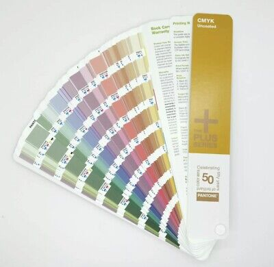 Pantone Cmyk Plus Series Uncoated. Stored In Dar Room.