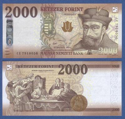 UNGARN / HUNGARY 2000 Forint 2016 UNC  P.NEW