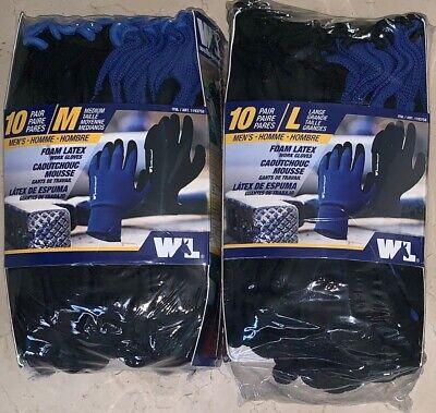 10 Pack Wells Lamont Mens Foam Latex Work Gloves Medium Or Large