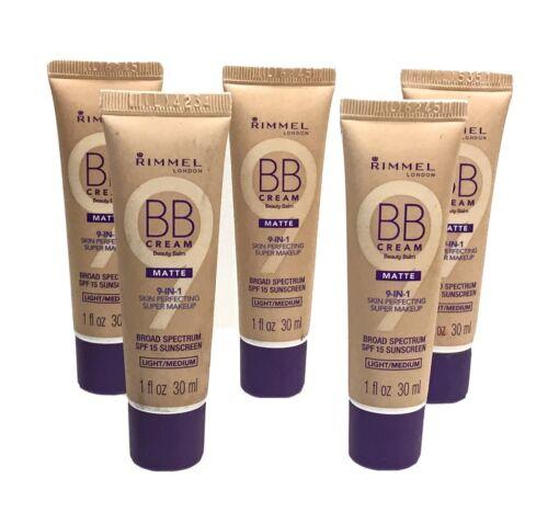 Lot of 2 Rimmel London 9-in-1 Skin Perfecting Makeup BB Crea