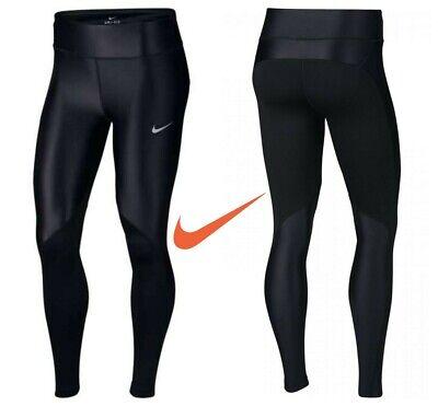 Nike Womens Fast Running Legging Gym Yoga Pants Leggins Bottoms Black Size