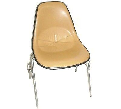 Herman Miller Leather Bucket Chair Stackable Wchair-to-chair Interlock Legs