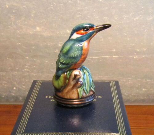 HALCYON DAYS Bonbonniere Kingfisher Trinket Box