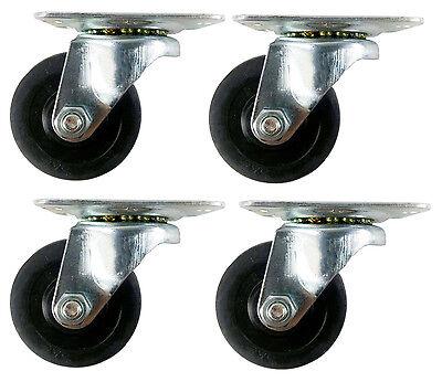 2 Soft Rubber Wheel Caster - 4 Swivels