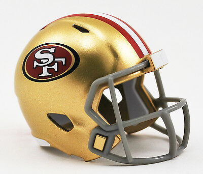 SAN FRANCISCO 49ers NFL Cupcake / Cake Topper Mini Football Helmet](49ers Cake)