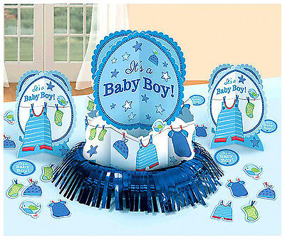 Shower with Love Baby Boy Shower Table Decorating Kit Party Supplies Favor~ - Baby Shower Decoration Kit