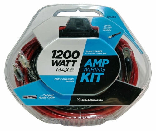 Scosche KPA6SD 1200 Watt 6-Gauge Car Amplifier Install Kit
