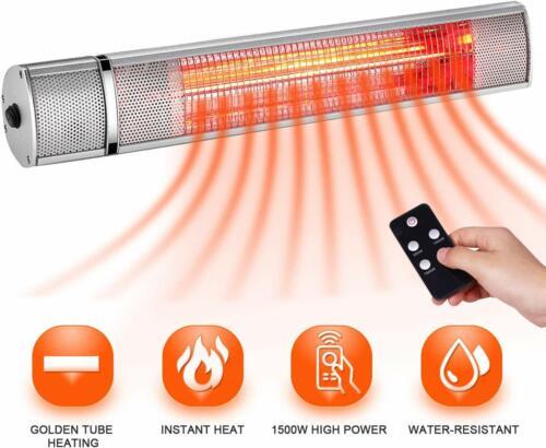Outdoor Garden Electric Patio Space Heater Infrared Wall Mou