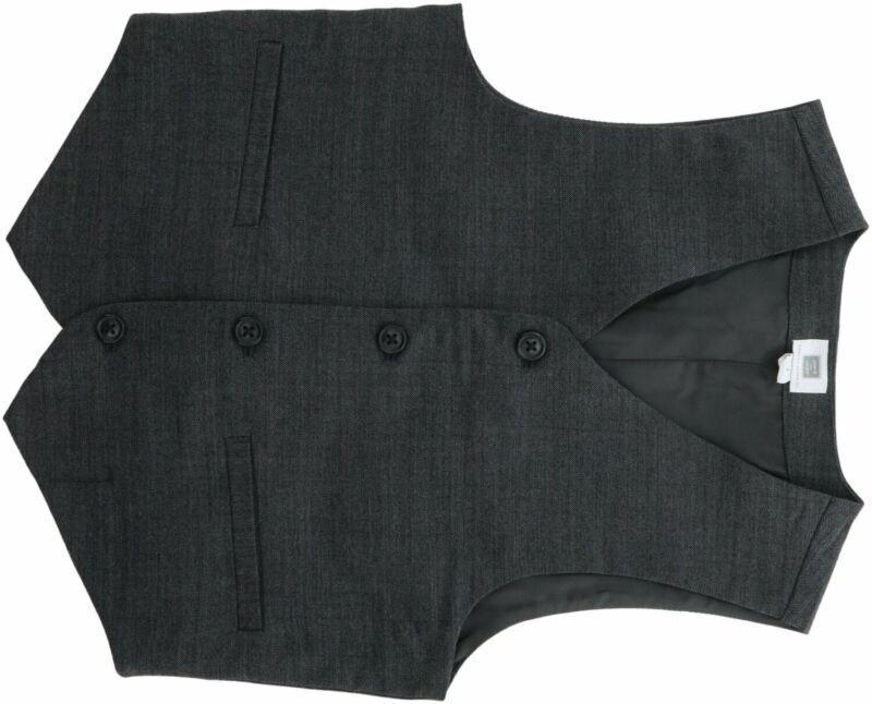 Janie And Jack Wool Herringbone Suit Vest
