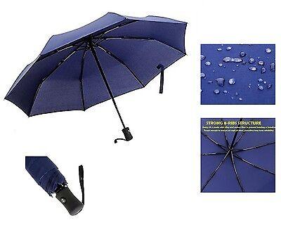 Automatic Travel Umbrella Auto Open Close Compact Folding Windproof Waterproof