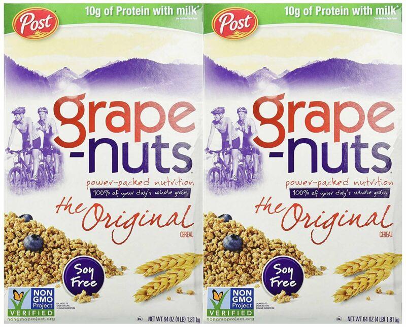Grape-Nuts Cereal, Original, 64 oz - Pack of 2