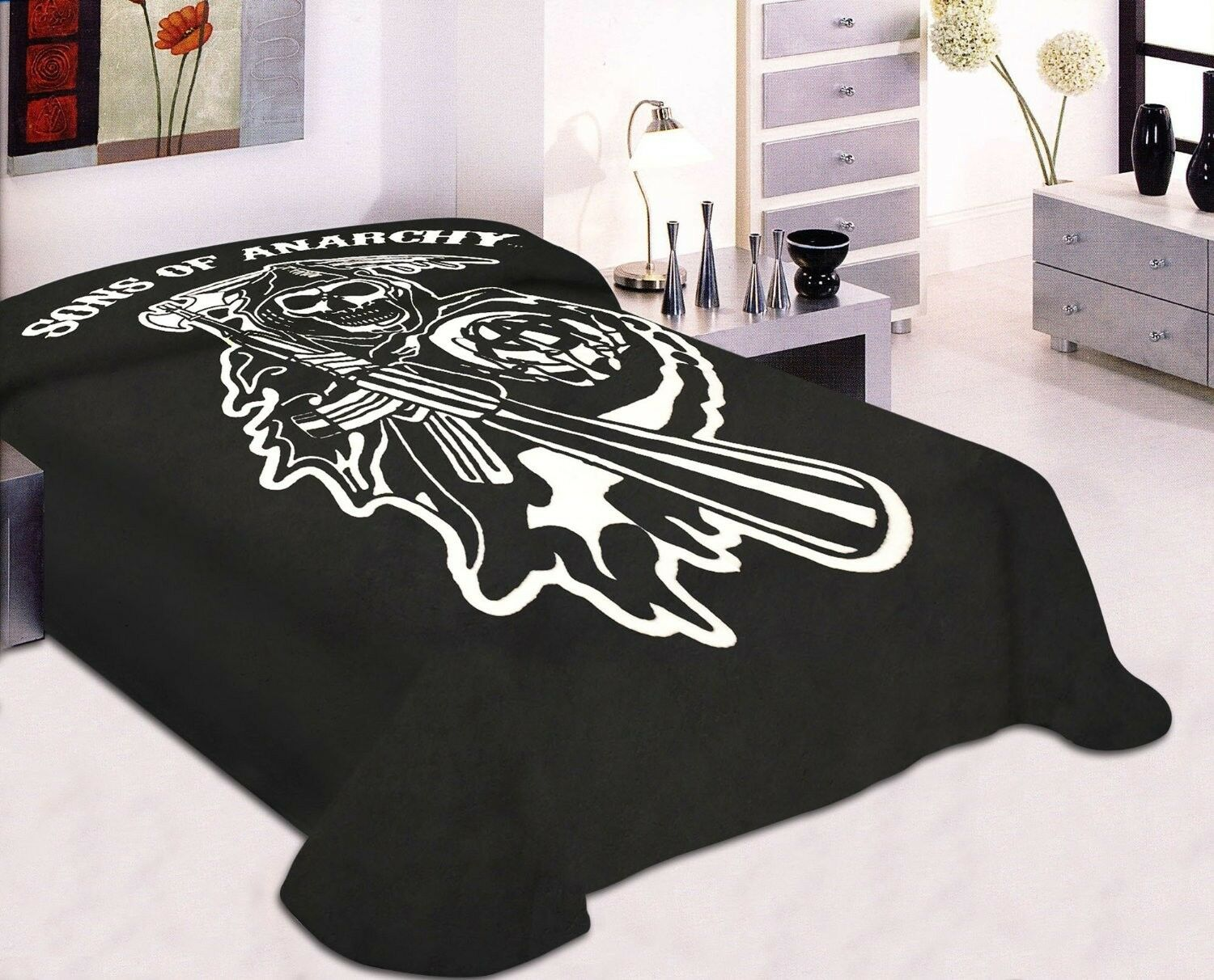 King/cal King Sons of Anarchy Blanket- SOA Merchandise Is Pe