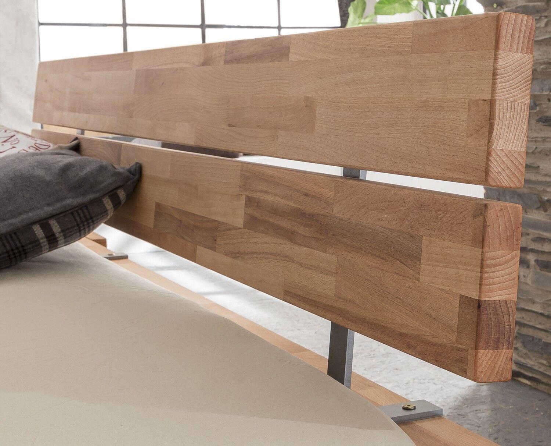 massivholzbett luna balkenbett in kernbuche doppelbett eur 498 00 picclick de. Black Bedroom Furniture Sets. Home Design Ideas