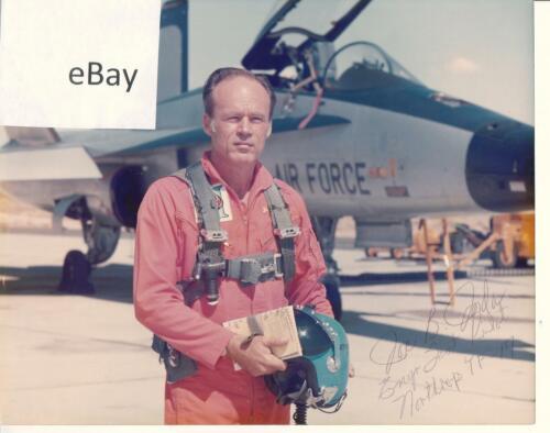 Kodak color photo signed by Northrup YF-17 engineer test pilot Joe B Jordan