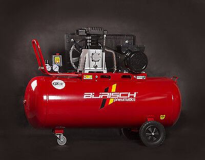 BURISCH Air Compressor 3HP 150L Belt Drive Twin 14CFM Twin Cylinder 150Ltr Litre