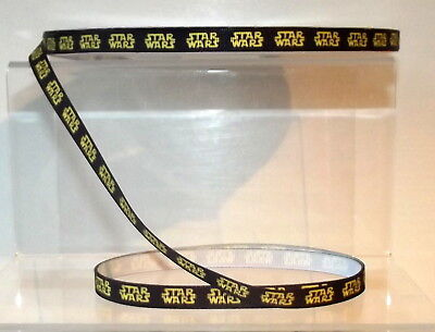 "Star Wars Printed Grosgrain Ribbon 10mm 3/8"" wide 1 2 5 10m Black & Yellow"