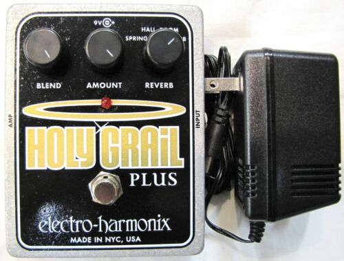 Used Electro-Harmonix EHX Holy Grail Plus + Variable Reverb Guitar Effects Pedal