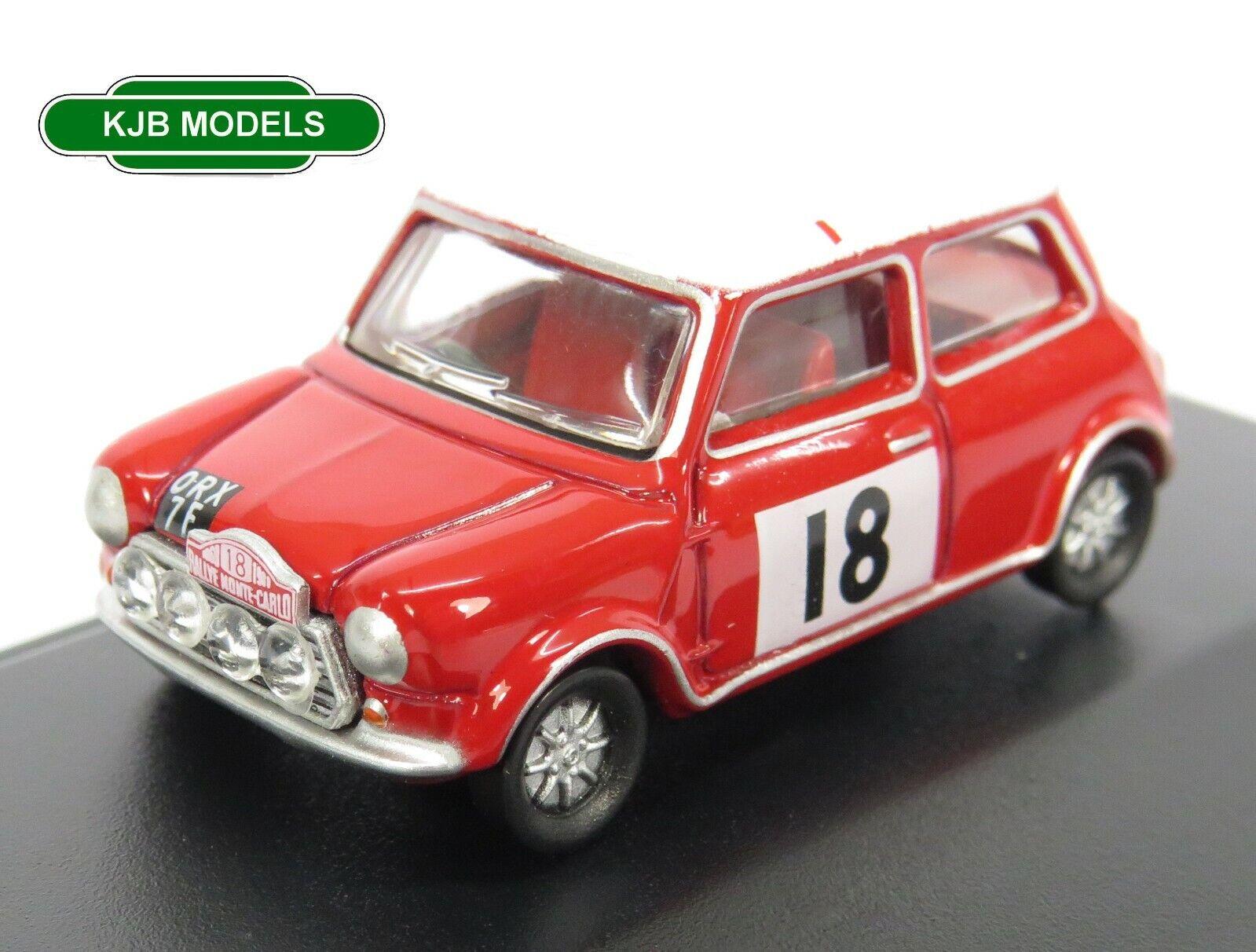 BNIB OO GAUGE OXFORD 1:76 76MCS001 Mini Cooper S MkII 1968 Monte Carlo Rally Car