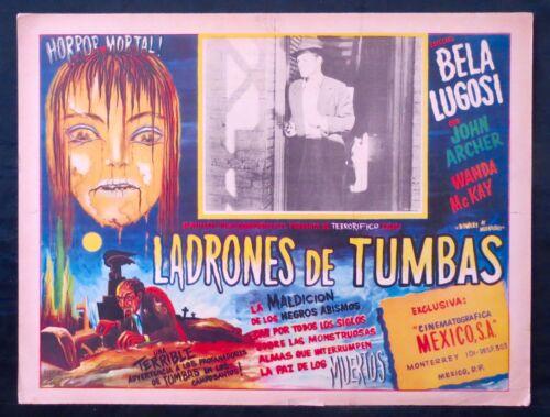 Bowery At Midnight BELA LUGOSI MEXICAN LOBBY CARD