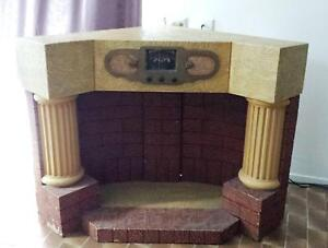 Vintage fireplace wood and plaster 1950's corner type RARE Maroochydore Maroochydore Area Preview