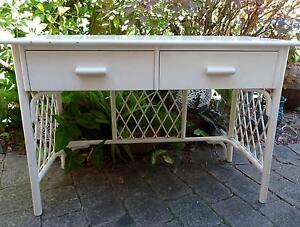 VINTAGE WHITE CANE HALL TABLE OR DRESSER Mooloolaba Maroochydore Area Preview
