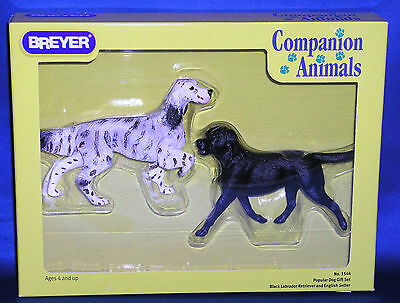 Breyer 2004 06 Black Labrador   English Setter Popular Dog Set Companion Animal