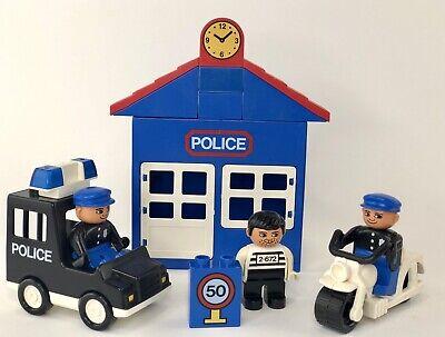 Vintage 1991 Lego Duplo 2672 Police Station Motorcycle Figures COMPLETE Set