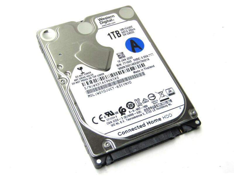 "Western Digital WD10JUCT-63CYNY0 1TB 2.5"" SATA2 5400RPM Laptop HDD"
