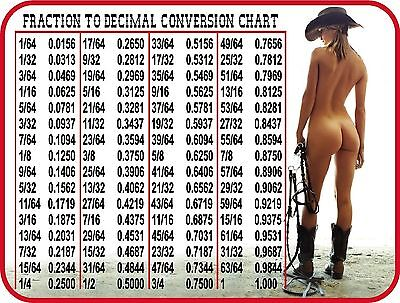 Sexy Girl Cowgirl Fraction To Decimal Conv  Toolbox Refrigerator Fridge Magnet