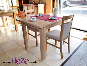 Extending dining table in oak sonoma, small, perfect for all rooms and kitchens