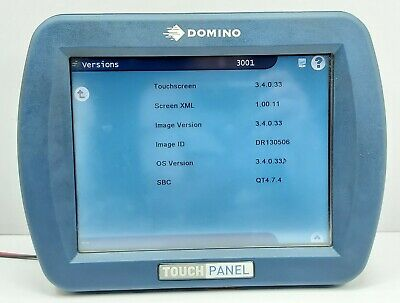 Domino Ept006853 Hmi Touch Screen Control Panel Rev 08 Embedded Ce 6.0 Core