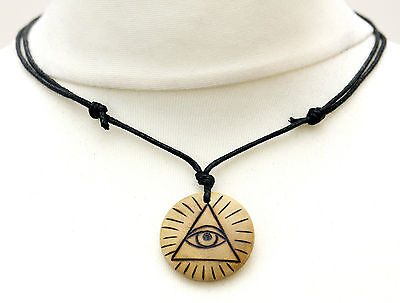 Eye of providence necklaceebay 1 the all seeing eye necklace eye of providence illuminati symbol evil eye pendant mozeypictures Images