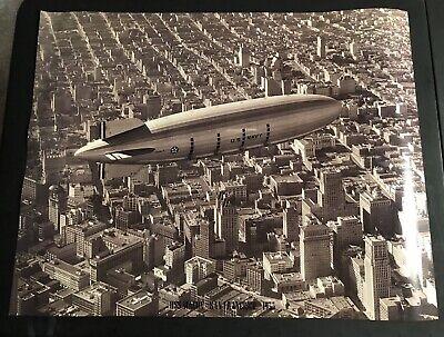USS MACON U.S. NAVY AIRSHIP Flying Over San Francisco 1933 Poster Print Photo