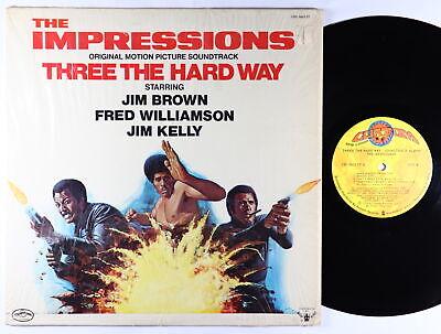 Impressions - Three The Hard Way OST LP - Curtom VG++ Shrink