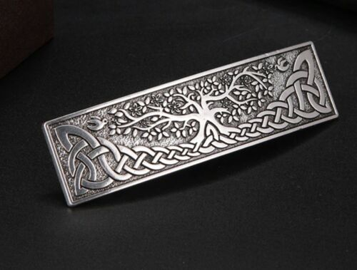 Antique Silver Tree of Life Celtic Knot Hair Barrette