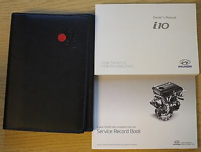 GENUINE HYUNDAI i10 OWNERS MANUAL HANDBOOK WALLET & SERVICE BOOK AUDIO 2013-2017