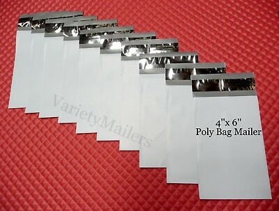 100 Poly Bag Postal Envelopes Extra Small 4x 6 Self-sealing Shipping Mailers