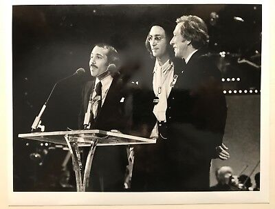 Photograph Of Paul Simon  John Lennon And Andy Williams 1975 At The Grammys