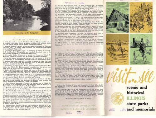 Illinois State Parks & Memorials Vtg 1960